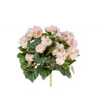 Бегония искусственная цветущая куст без кашпо 38 см (7 расцветок) (Цвет:светло-розовый)