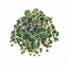 Дэнс Страуберри мини ампельная искусственная бело-зеленая с розовым 26 см
