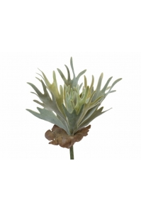 Папоротник Оленьи Рога куст искусственный серо-зеленый 17 см