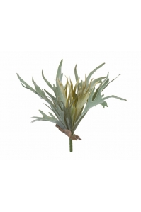 Папоротник Оленьи Рога большой куст искусственный серо-зеленый 27 см