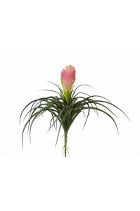 Вриезия искусственная цветущая розовая 24 см