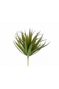 Суккулент Трава Пик искусственный куст зеленый с бордовыми кончиками 11 см (Real Touch)