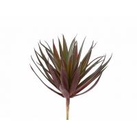 Суккулент Трава Пик искусственный куст зелено-бордовый 11 см (Real Touch)