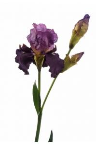 Ирис искусственный темно-лиловый 110 см