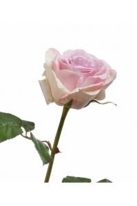 Роза Верди искусственная светло-сиреневая с розовым 58 см