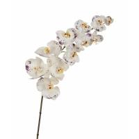 Орхидея Фаленопсис большая искусственная бело-фиолетовая 100 см (Real Touch)