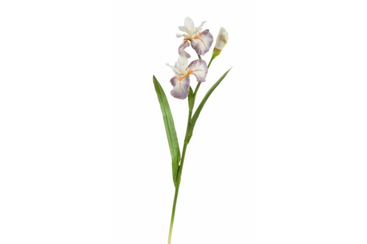 Ирис Сиберика искусственный бело-сиреневый 80 см