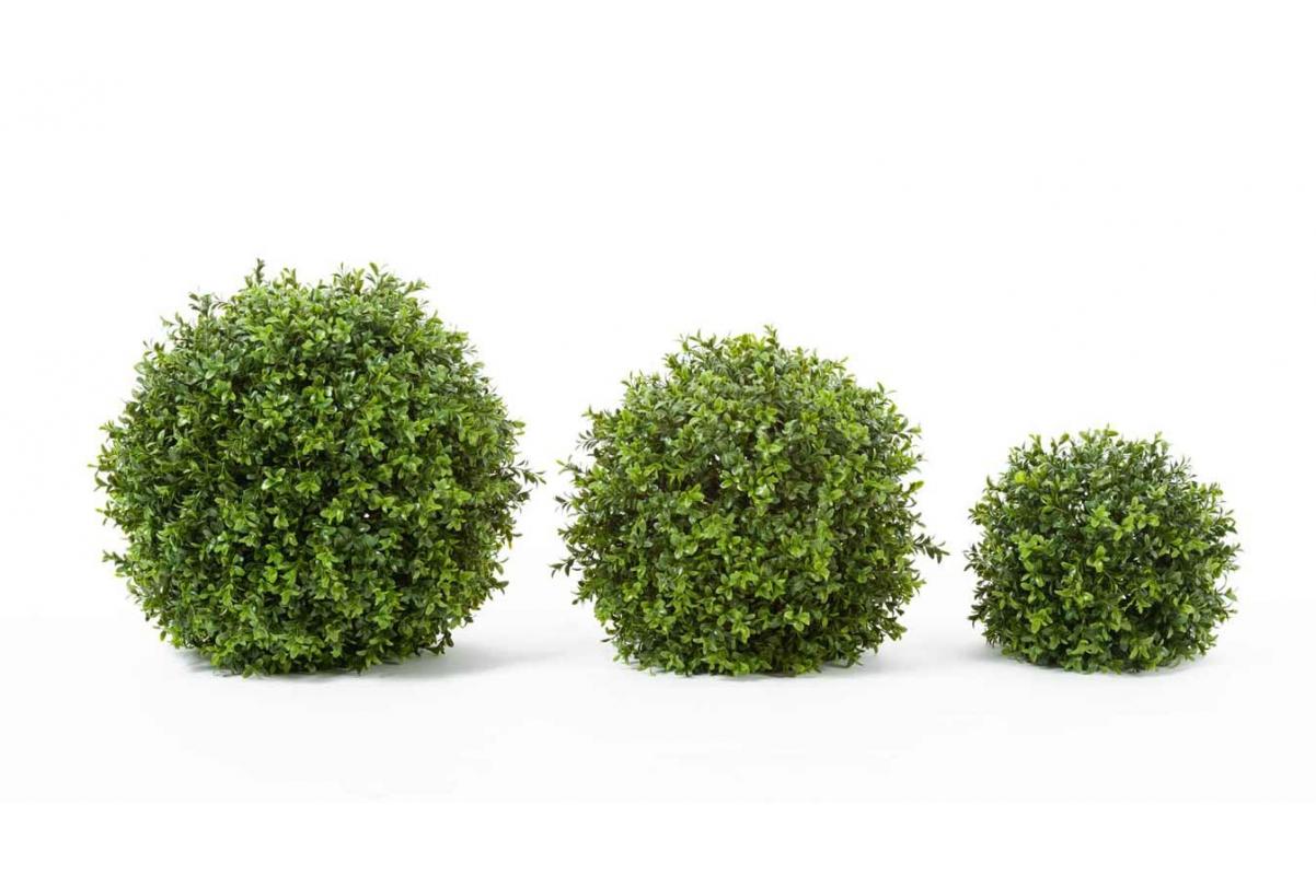 Самшит шар искусственный зеленый