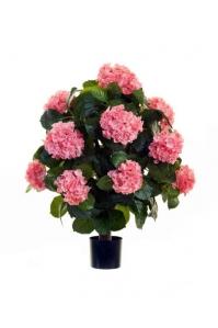 Гортензия Куст макси в горшке искусственная розовая 70 см