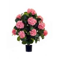 Гортензия куст большой в горшке искусственный розовый 70 см
