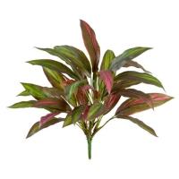 Куст Драцены искусственный бордово-зеленый 40 см