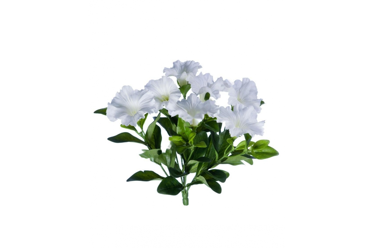 Петуния куст искусственный белый без кашпо 20 см