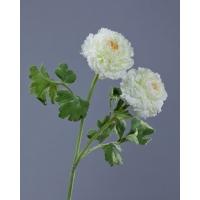 Ранункулюс махровый искусственный белый 62 см