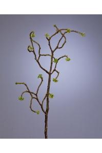 Ветка декоративная искусственная с зелеными почками 59 см