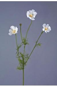 Космея Элегант искусственная белая ветвь 67 см