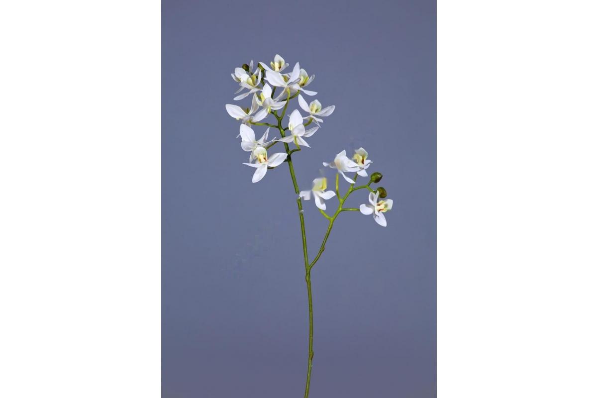 Орхидея Фаленопсис-мини искусственная Батерфляй белая 43 см (Real Touch)