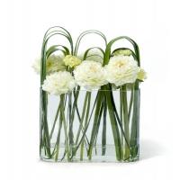 """Композиция из искусственных цветов """"Blanc De La Cascade"""" в прямоугольной вазе 33 см"""