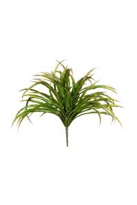 Трава искусственная Ванилла Грасс зеленая с бордо 20 см