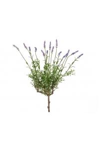Лаванда с сиреневыми цветами искусственная без кашпо 53 см