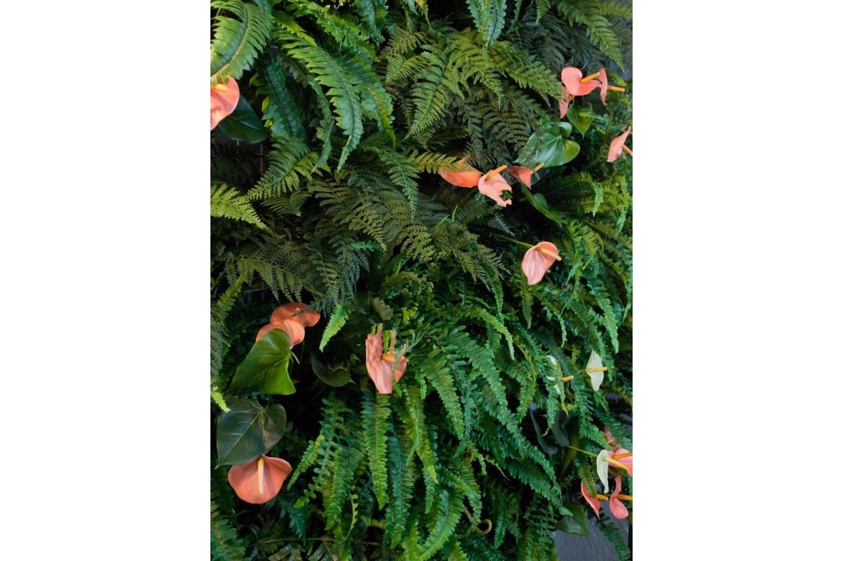 Папоротник Оленьи Рога куст искусственный серо-зеленый 17 см - Фото 2