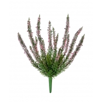 Эрика (Вереск) Куст искусственный нежно-розовый 20 см