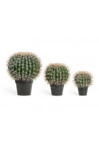 Кактус Баррель искусственный зеленый 27, 35, 47 см