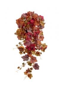 Виноградный Куст искусственный ампельный красно-бордовый 75 см (Real Touch)