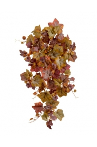 Виноградный Куст искусственный ампельный желто-красный 75 см (Real Touch)