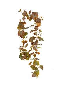 Виноградная Гирлянда искусственная зелено-бордовая 200 см (Real Touch)