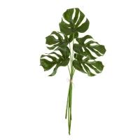 Листья Монстеры связка из 5 шт искусственных зеленых 85 см