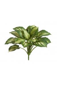 Хоста куст большой искусственный бело-зеленый 40 см (без кашпо)