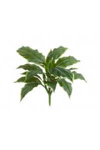 Хоста Соу Свит искусственная зеленая с белой каймой 30 см (без кашпо) Real Touch