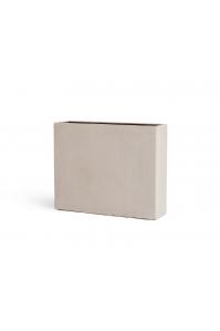 Кашпо Treez Effectory серия Beton высокий девайдер белый песок 75 см (Размер (Д x Ш x В), см:92 x 25 x 75)