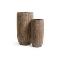 Кашпо Treez Effectory серия Wood высокий округлый конус светлый дуб от 65 до 80 см