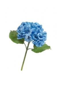 Гортензия Крупно-цветковая искусственная тёмно-голубая 38 см MDP