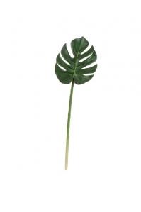 Лист Монстеры Литл искусственный зеленый 49 см