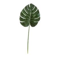 Лист Монстеры Биг искусственный темно-зеленый 92 см