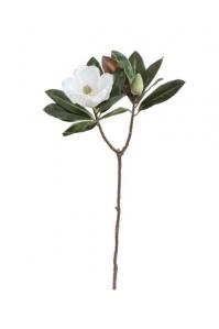 Магнолия ветвь искусственная белая 78 см