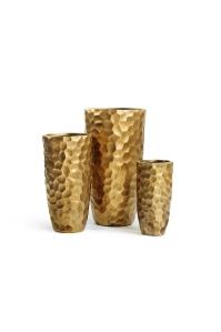 Кашпо Treez Ergo Comb высокий закругленный конус застаренное золото от 46 до 77 см