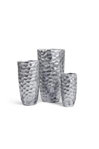 Кашпо Treez Ergo Comb высокий закругленный конус застаренное серебро от 46 до 77 см