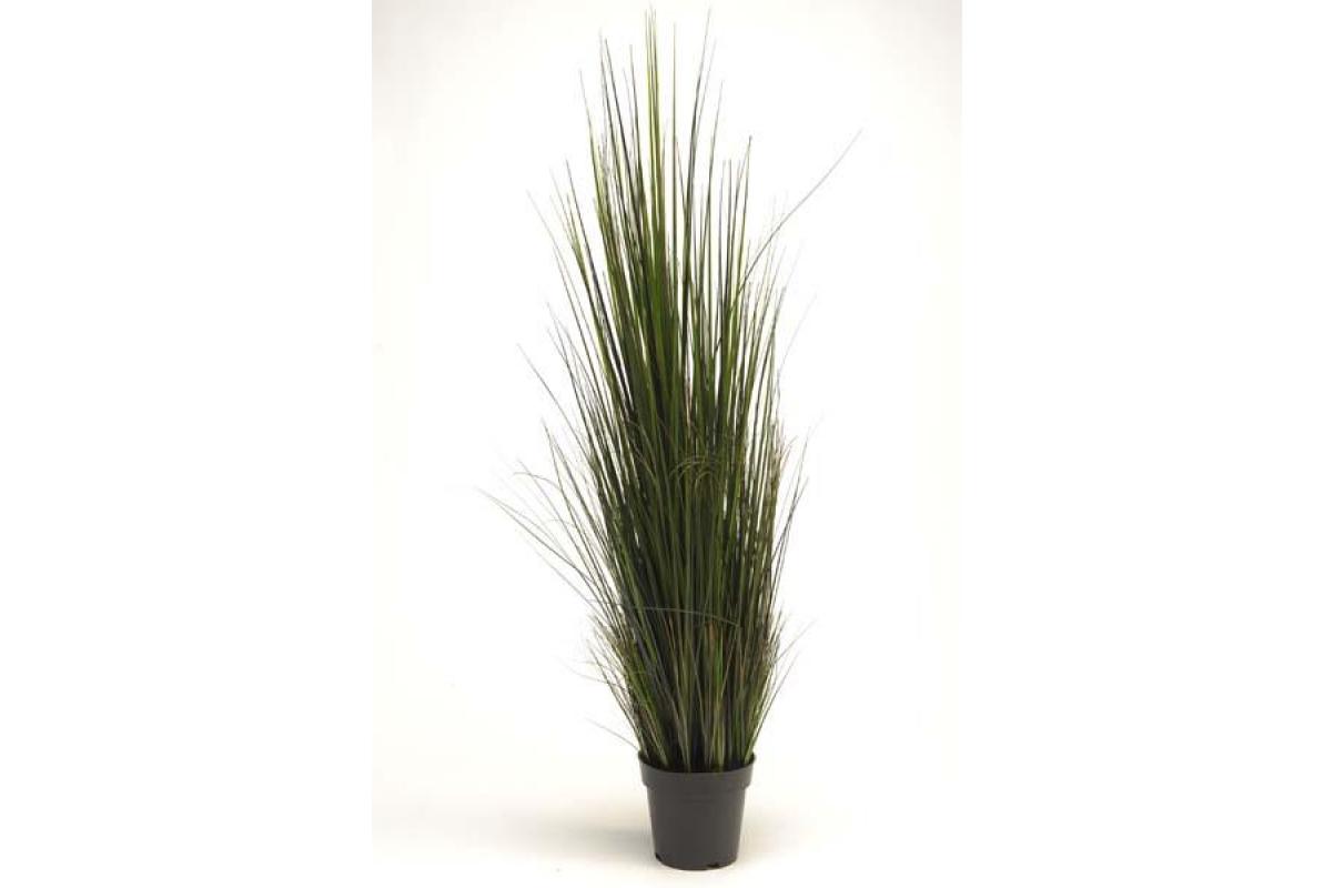 Трава Осока искусственная зеленая в кашпо