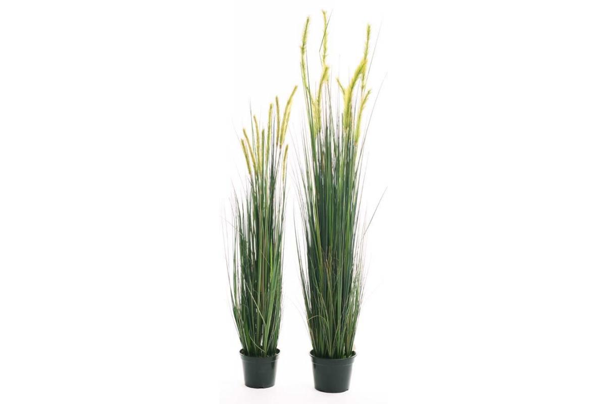 Трава Лисий Хвост искусственная в кашпо