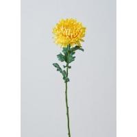 Хризантема Королевская искусственная желтая 75 см