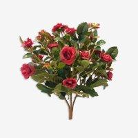 Искусственная Роза куст красный без кашпо 30 см