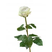 Роза Английская искусственная белая 66 см
