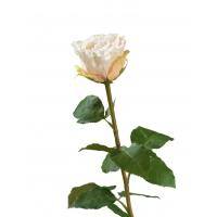 Роза Английская искусственная ваниль-лайм-крем 66 см