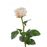 Роза Английская Большая искусственная нежно-персиково-розовая 66 см