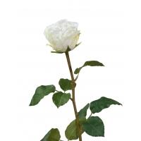 Роза Английская Большая искусственная белая 66 см