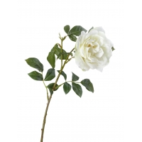 Роза Эльфе искусственная белая 56 см