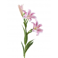 Лилия Донателло искусственная ветвь розовая 88 см (Real Touch)